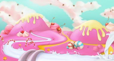Pink sweet landscape