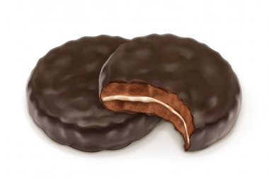 Chocolate cookies, vector illustration