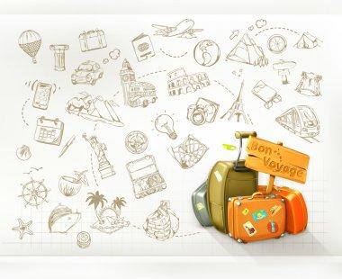 Travel infographics, vector stock vector