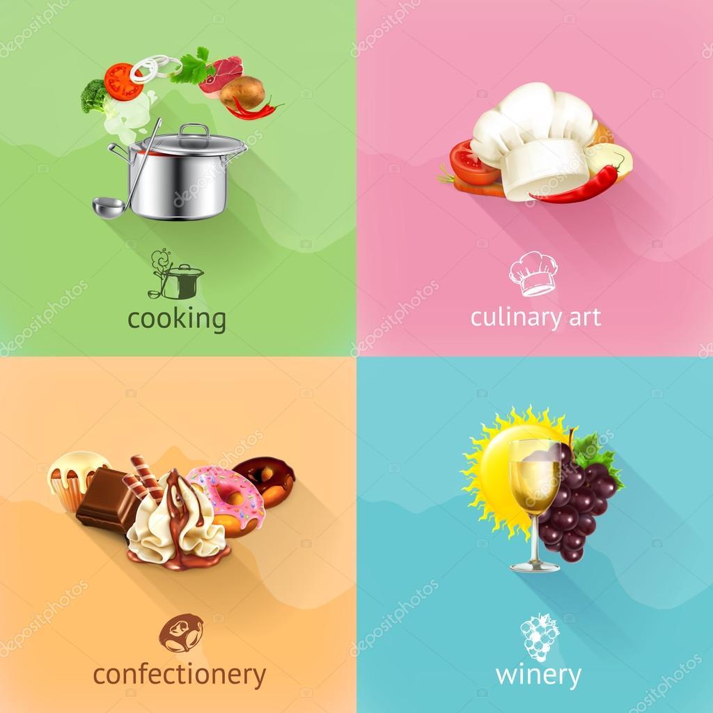 Food concept illustration