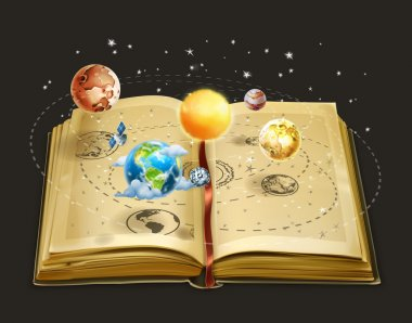 Book on astronomy icons