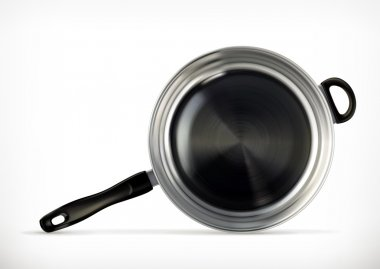 Frying pan on white