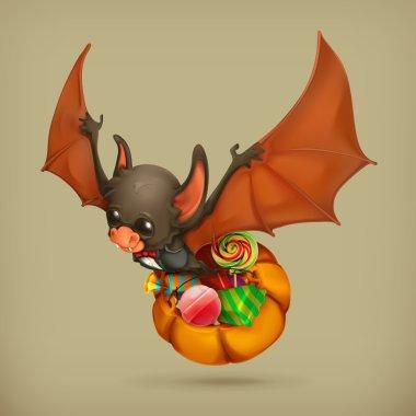 Funny bat,   icon
