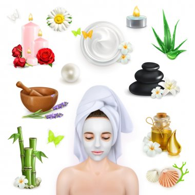 Spa, beauty and care   icons