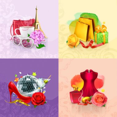 Beauty and cosmetics backgrounds