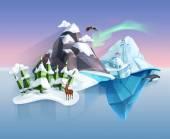 Fotografia Polare natura, paese delle meraviglie invernale
