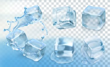 Ice cubes,   set