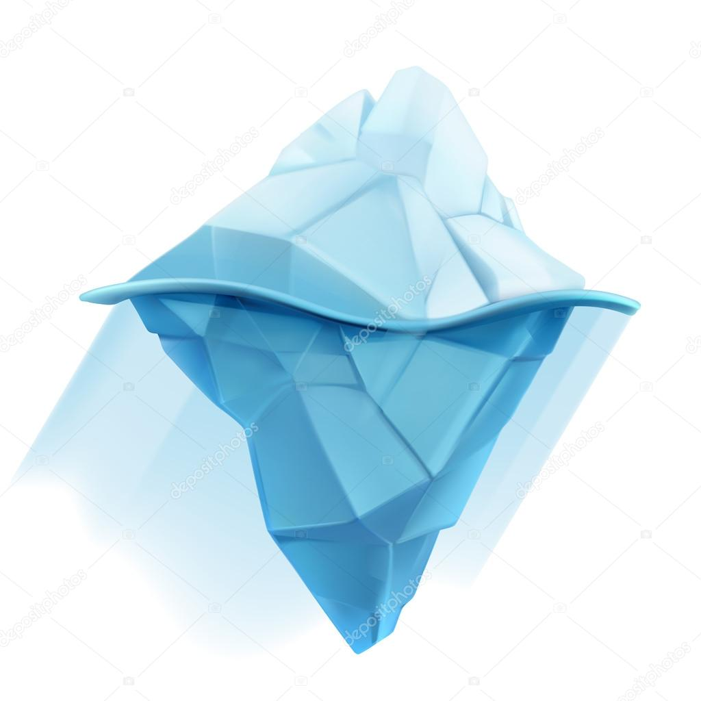 Iceberg, low poly style   icon