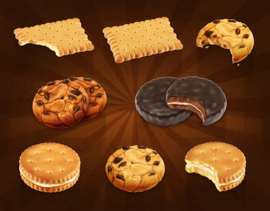 Cookies icons set