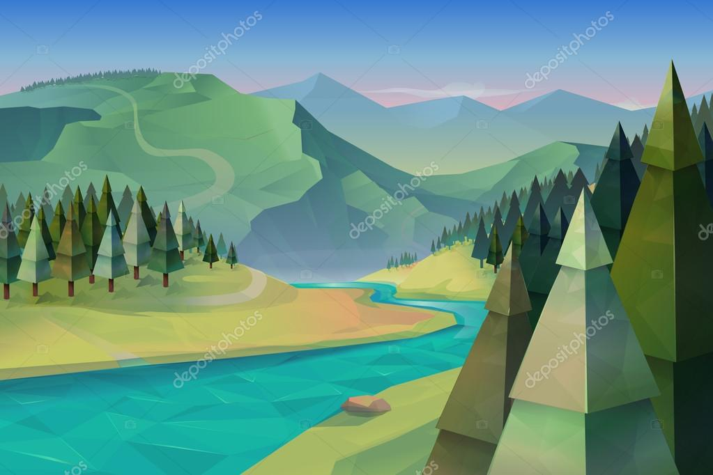 Forest landscape, nature   background