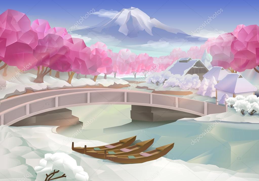 Pink grove landscape