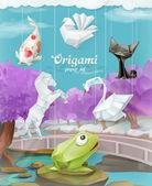 Animali di carta di origami