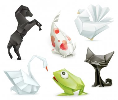Origami animal icons