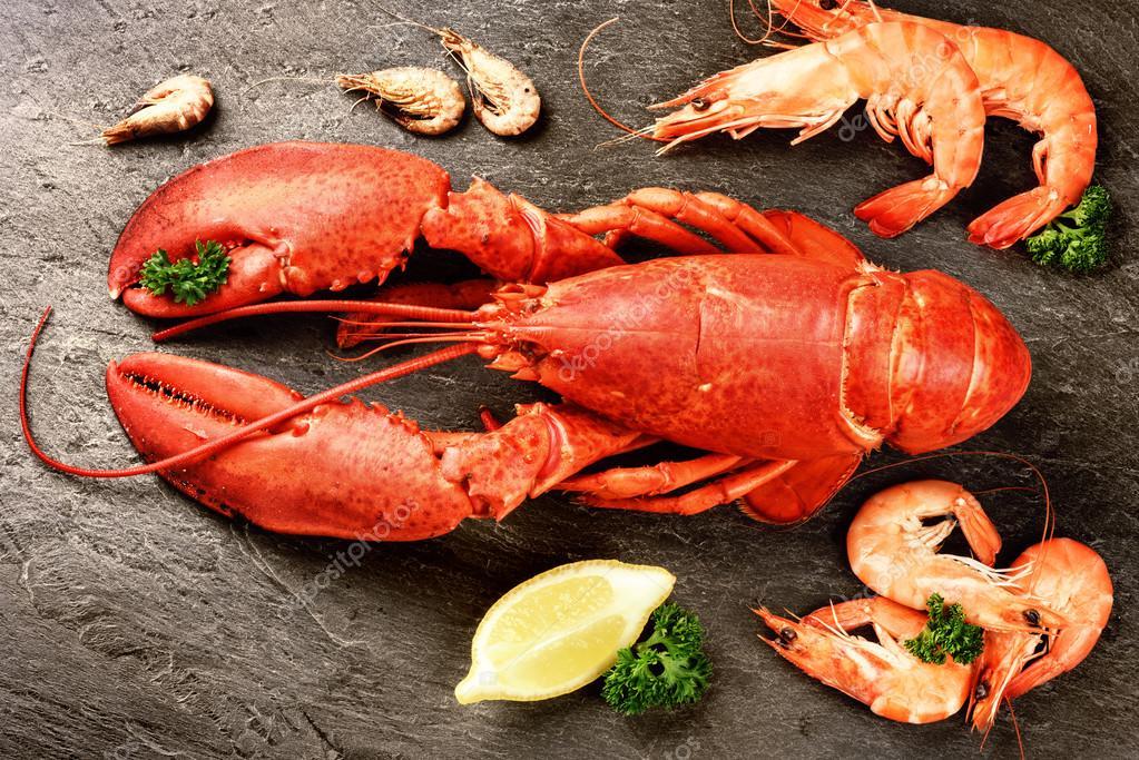 Fine selection of crustacean for dinner