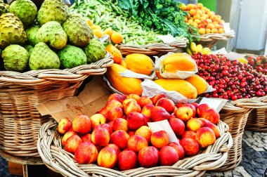 Fresh exotic fruits at the local market
