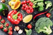 Fresh organic vegetables and herbs