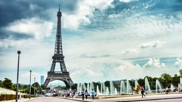Eiffel tower and Trocadero fountains
