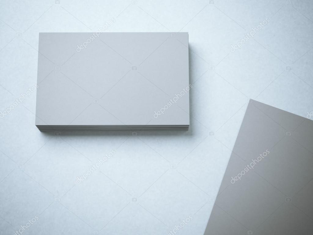 Stack of gray blank business cards stock photo ekostsov 100270926 stack of gray blank business cards stock photo reheart Gallery