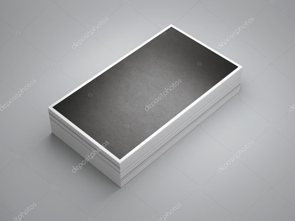 Pile of black business cards — Stock Photo © ekostsov #106372838