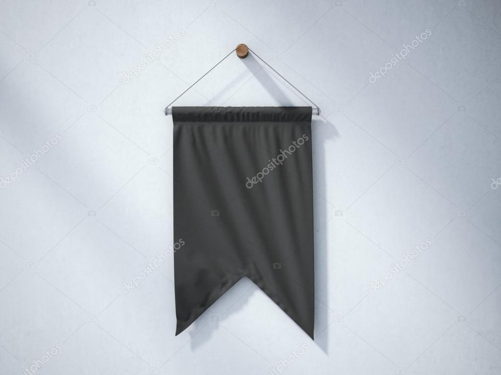 Black pennant hanging