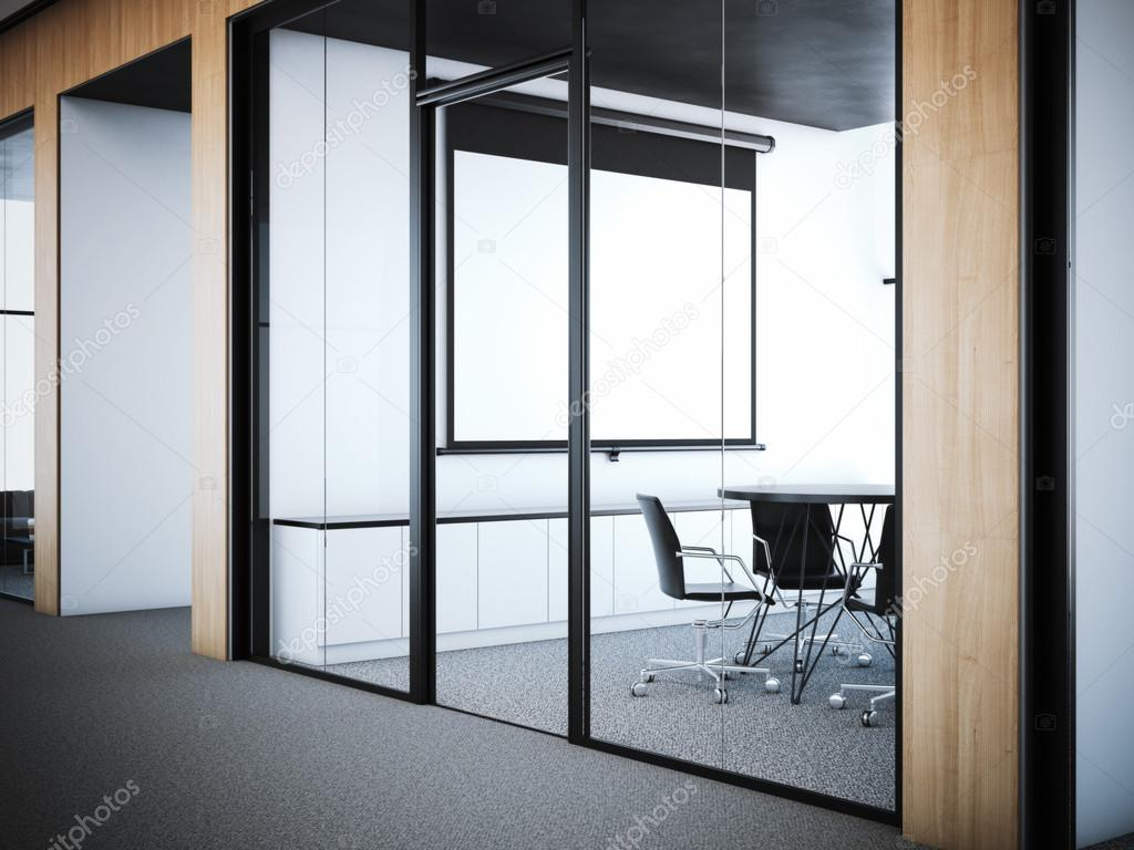 office interior doors. Doors To The Meeting Room In Office Interior. 3d Rendering \u2014 Stock Photo Interior R