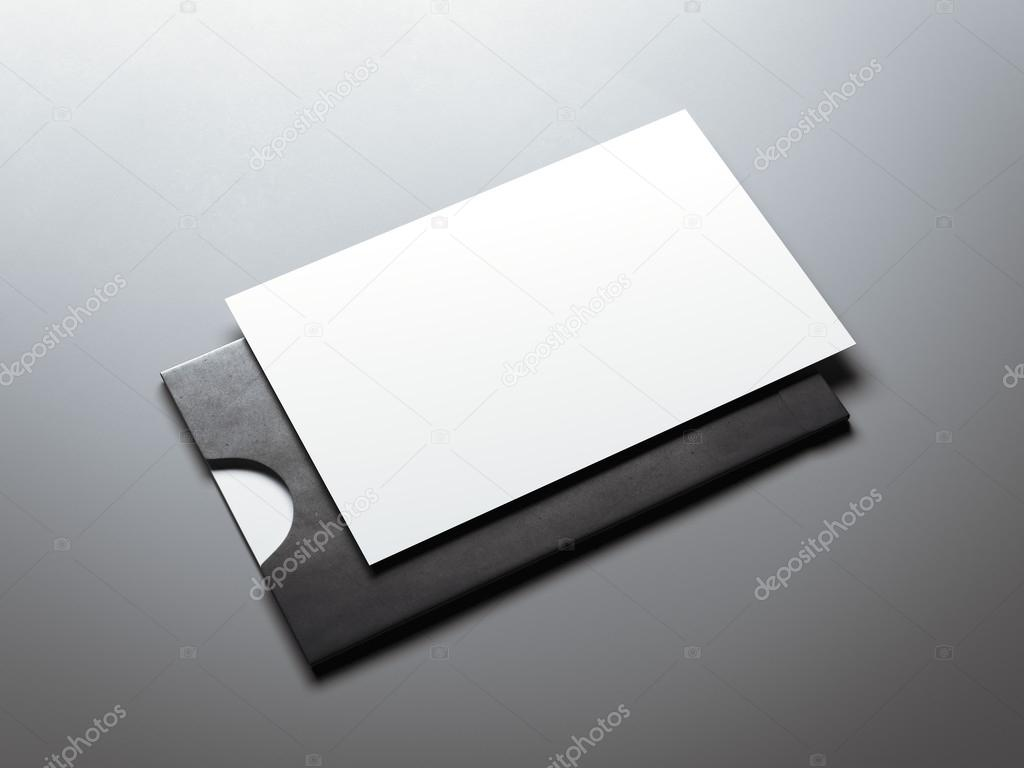 Black envelope and white business card 3d rendering stock photo black envelope and white blank business card 3d rendering photo by ekostsov reheart Choice Image