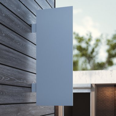 White signboard on the wall. 3d rendering