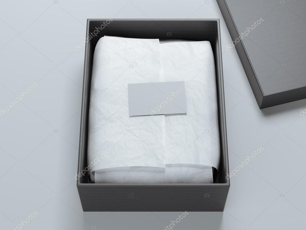 Bote De Papier Demballage Et Blanc Business Carte Rendu 3D Image Ekostsov