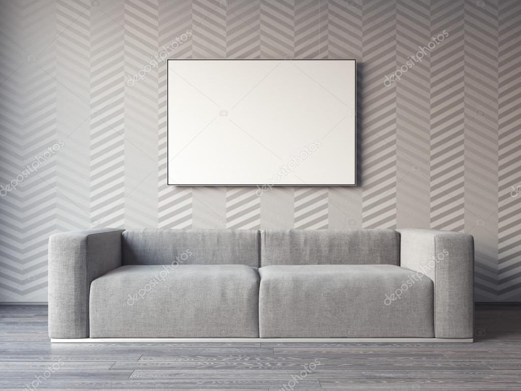 Pareti In Tela : Una tela bianca di due spazii in bianco su una rappresentazione