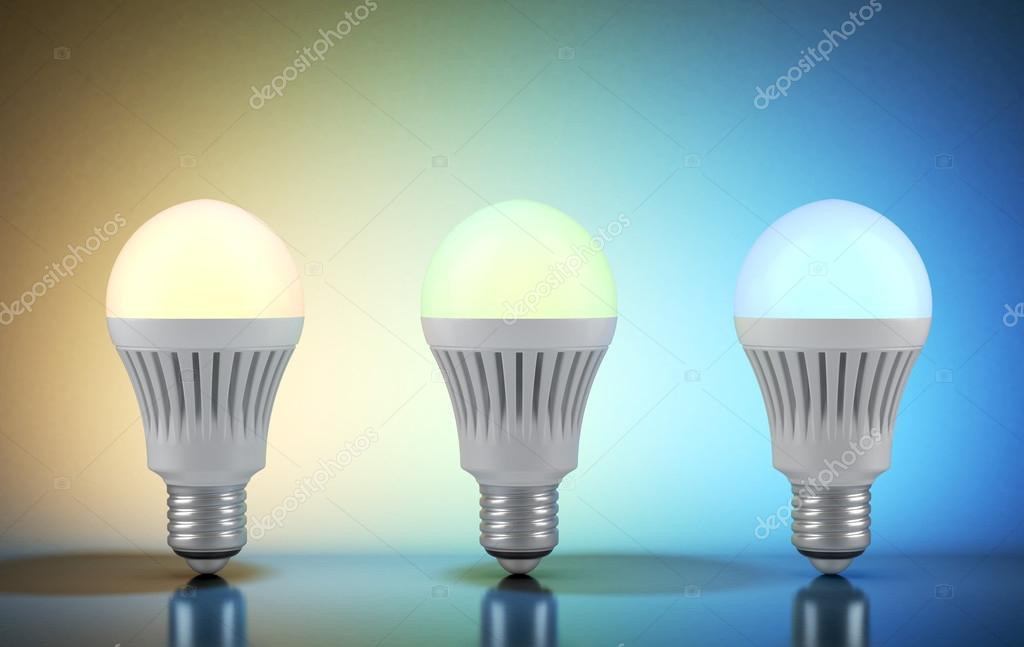Lampen Op Afstandsbediening : Drie veelkleurige led lampen met draadloze afstandsbediening