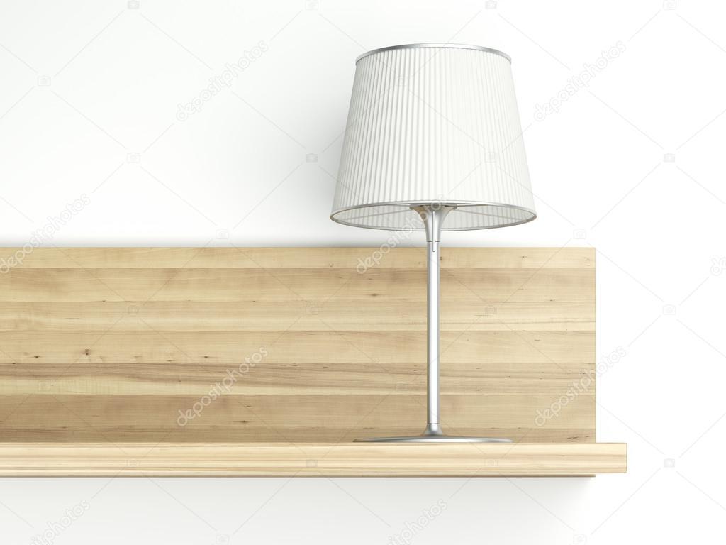 Wandplank Met Lamp.Plank Op De Muur Met Lamp Stockfoto C Ekostsov 57625401