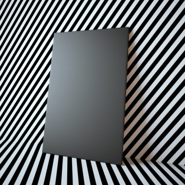 Blank black frame on the abstract background