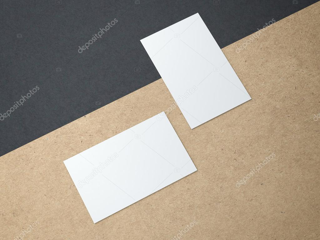 Two business cards on the kraft paper — Stock Photo © ekostsov #81616204