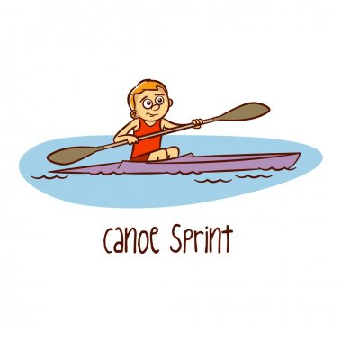 Summer Olympic Games. Sport. Canoe Sprint