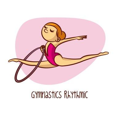 Summer Olympic Games. Sport. Gymnastics Rhythmic. Hoop
