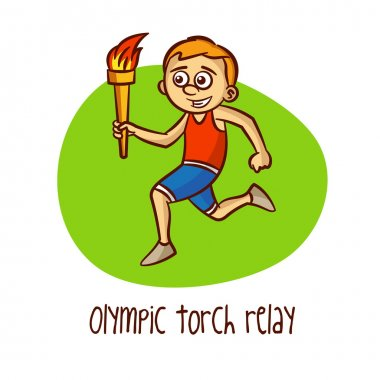 Sport. Olympic torch relay