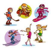 Děti hrají různé sporty