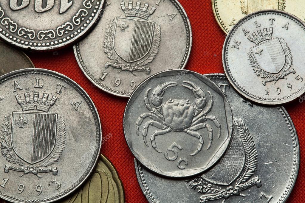 Verschiedene Münzen Aus Malta Stockfoto Wrangel 101112840