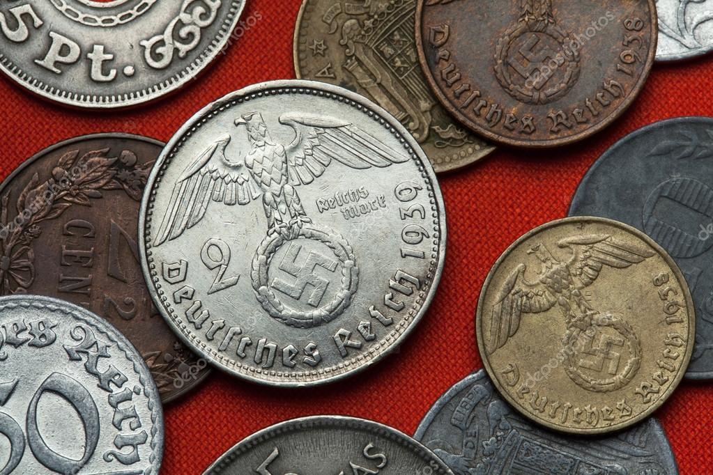 Coins Of Nazi Germany Nazi Eagle Stock Photo Wrangel 102068952