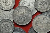 Fotografie Münzen aus Deutschland. Bundesadler