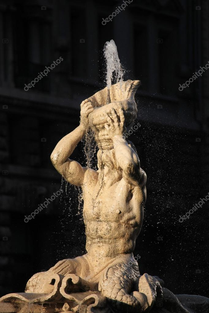 Fonte de Tritão por Gian Lorenzo Bernini — Stock Photo