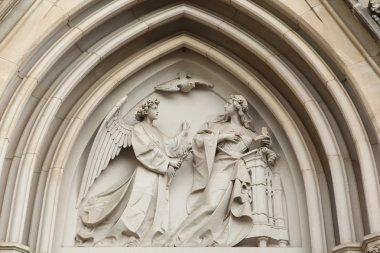 The Annunciation Gothic relief