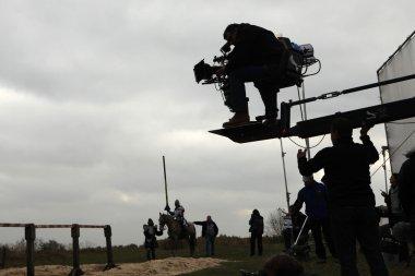 Filming of movie The Knights