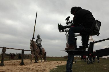 Filming of new movie The Knights