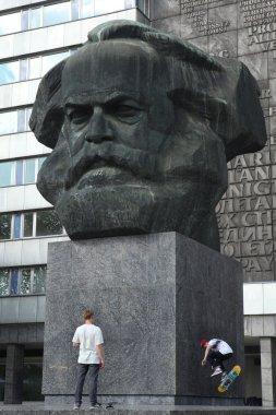 Karl Marx Monument in Chemnitz, Saxony