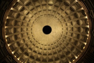 Dome of the Pantheon Temple in Rome