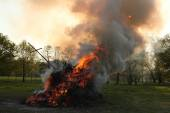 Easter bonfire in Spreewald Region
