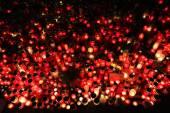 Světla svíček in memoriam zesnulý český prezident