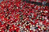 Svíčky hořící in memoriam český prezident