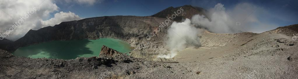 Acid lake in Kawah Ijen